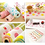 #4: Anti Slip 45X200cm Kitchen Cupboard Liners Mat Roll Drawer Liner Mats Drawer Refrigerator Table Pad Waterproof Place Mat