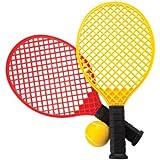 Mountain Warehouse Juego de raquetas y bola de tenis Amarillo Talla única