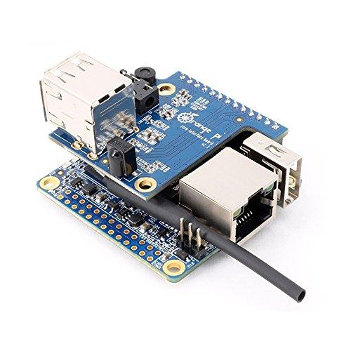 Ils - 2-in-1 Orange Pi Zero H2 Quad Core Open-Source 512MB Entwicklungsplatine + Erweiterungskarte