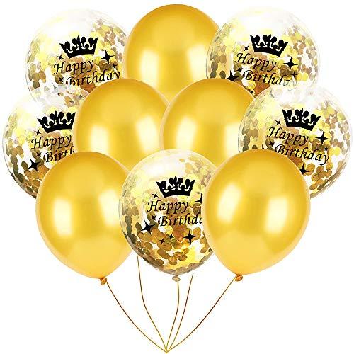 Yooshen Konfetti Luftballons, 10pcs 12