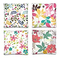 tgyew Ornated Colorful Flower Throw Pillow Cover Home Decor Cushion Case 18 x 18 Inch Set of 4