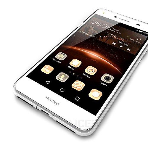 Cover per Huawei Y5 II Pro / HUAWEI Y6 II COMPACT, AICEK Cover Huawei Y5 2 5 pollici Silicone Case Molle di TPU Trasparente Sottile Custodia per ...
