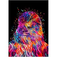Leezeshaw 5D DIY Diamond Painting By Number Kits Fameless Rhinestone Embroidery Paintings Pictures For Home Decor - Chewbacca(9.8x13.8inch/25x35cm)