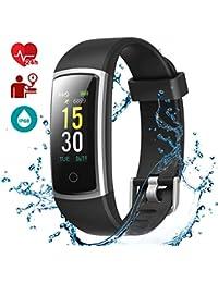 LATEC Pulsera Actividad, Fitness Tracker IP68 Impermeable Monitor de Frecuencia Cardiaca 14 Modos