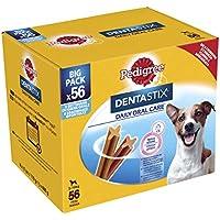 Pedigree Dentastix Premios para Perros Pequeños de Higiene Oral Uso Diario - Pack de 8 x 7 palos - Total: 56 palos
