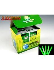 250Piezas(1 caja) Dia:3.0X25MM brillar luminoso palo Tipo Seco chasquido Pesca del palillo del resplandor