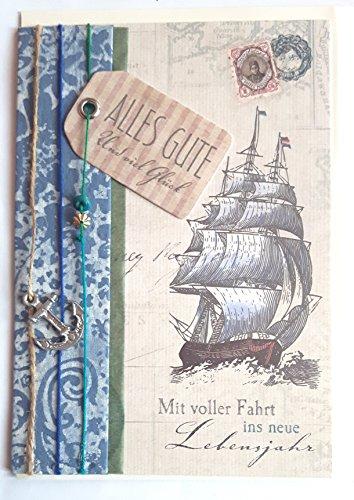 """Geburtstagskarte """"Mit voller Fahrt ins neue Lebensjahr"""", B6 + Umschlag"""
