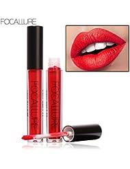 By Channelbeauty - 1pcs rouge à lèvres liquide - Rouge - Coquelicot #01 - Focallure - Lipstick liquide mat longue durée et résiste à l'eau