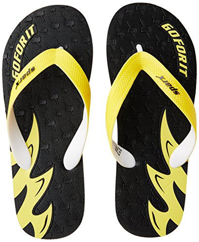 Sparx Men's Black and Yellow Flip Flops Thong Sandals - 8 UK/India (42 EU)(SF2051GBKYL)  available at amazon for Rs.227