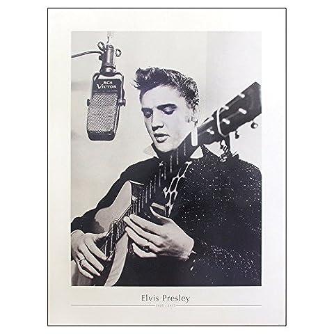 Elvis Presley In Recording Studio Large Poster Fine Art Print Size 86 x 61cm