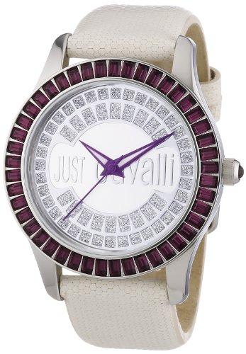 Just Cavalli R7251169015 - Reloj analógico de cuarzo para mujer con correa de piel, color blanco