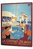 Plaque émaillée Posters Enseignes en métal Panneaux Plaques XXL Globetrotter Marseille piscine...