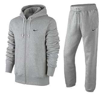 nike herren classic brushed sweatanzug trainingsanzug jogginganzug anzug grau m. Black Bedroom Furniture Sets. Home Design Ideas