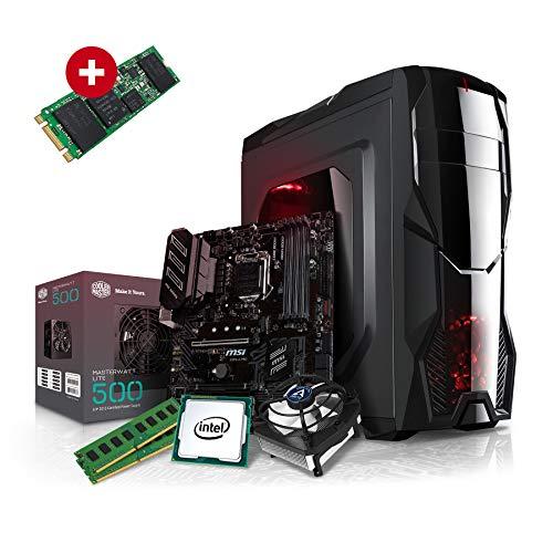 Kiebel Aufrüst Gamer PC (v9) - Intel Core i7-9700K 8-Kerner (8x3.6GHz | Turbo 4.9GHz) | 16GB DDR4-2666 | 1000GB SSD | Aufrüst Gaming System, komplett vormontiert und getestet [182246] - Surround-system-basis