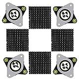 Zacro NEMA 17 Stepperdämpfer aus Stahl und Gummi, 4 Stück mit M3-Schraube und Kühlkörper für die CNC-Maschine Creative CR-10, 10S, 3D-Drucker
