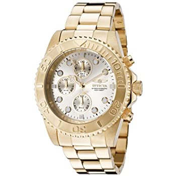 Invicta Pro Diver Unisex Chronograph Quartz Watch With Stainless Steel Gold Plated Bracelet – 1774 1