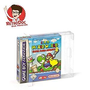 5 Klarsicht Schutzhüllen für Game Boy Advance Games in Originalverpackung – Passgenau und Glasklar – PET – Retro-Doc…