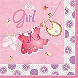 """16 Servietten """" It's a Girl"""" Geburt Pink 33cm"""