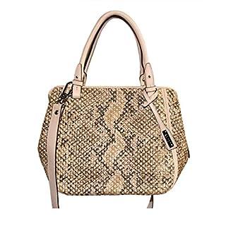 abro+ Pitone Crochet 026641-82 Leder Damentasche 32x26x16cm (beige)