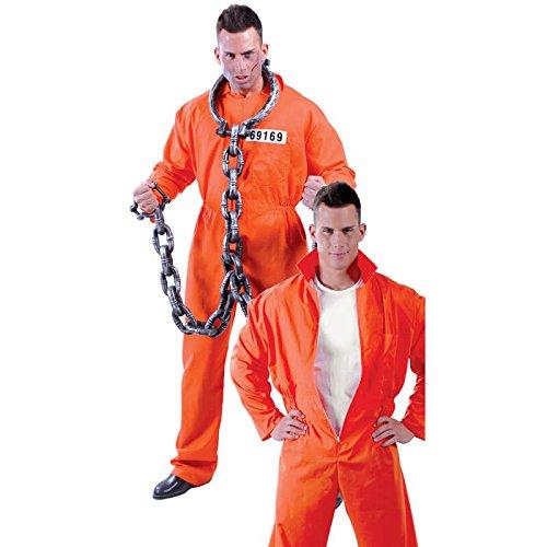Guirca Americano Detenuto Hannibal Lecter Herren-Kostüm, Farbe Orange, Einheitsgröße, ()