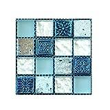 Pegatinas de Pared 10x10cm 20 pc Piso de Azulejo Auto-Adhesivo Etiqueta de la Pared Pegatina de...