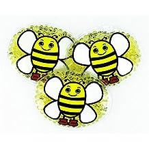 3 Kühlpads mit lustigem Tiermotiv für Kinder (Biene)