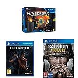 PlayStation 4 (PS4) - Consola De 500 GB + Call Of Duty WWII + Minecraft + Uncharted: El Legado Perdido