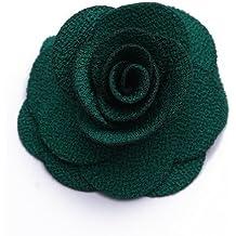 SODIAL(R) Clip Broche Pinza Tela Aleacion Flores Verde Adorno de Pelo Hairclip