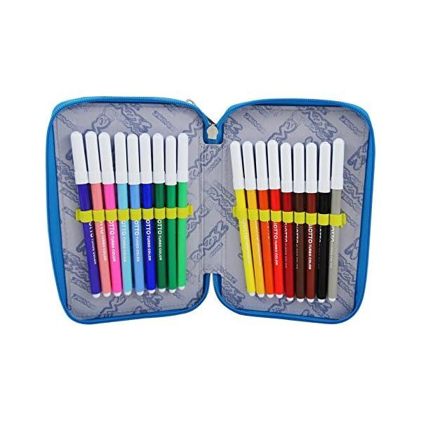 Seven Swag Boy Estuche Escolar Làpices de colores Plumier Triple para Ninos Amarillo