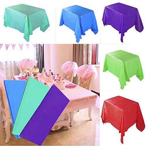 Geburtstag Deko Rechteckig 183x137cm Plastik Tischtuch Wasserabweisend Für Festlich Party (Rosa) ()