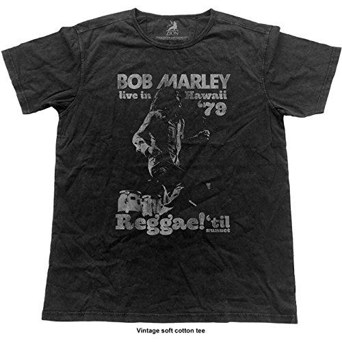Bob Marley Shirt Live in Hawaii 79 poster offiziell Herren Vintage ()