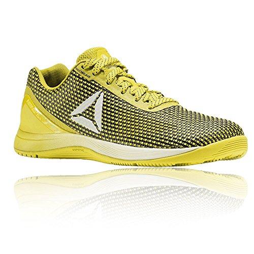 Reebok R Crossfit Nano AVY48, Zapatillas Deportivas para Interior Hombre, Amarillo (Giallo Bright Yellow/black/white/silver), 44 EU