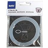 Kela Italia Ersatz Dichtung für Espressokocher 10591, Aluminium, silber