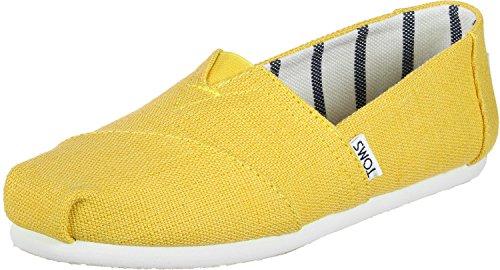 Alpargata Espadrilles yellow Größe: 43,5 Farbe: - Damen Toms Spitze Schuhe