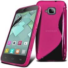 Funda de GEl TPU S Line de Color Rosa para Alcatel One Touch Idol Mini (OT-6012) - Orange Hiro