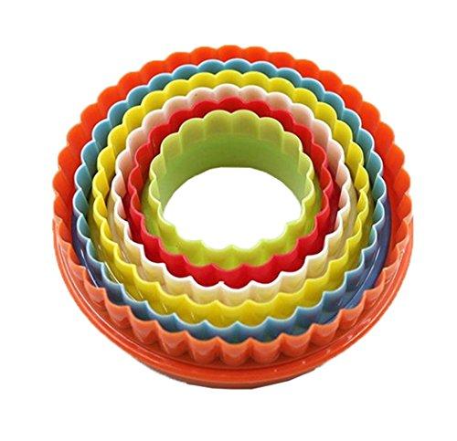Smile YKK Moule en Plastique Ustensile de Biscuit Gâteau DIY Cuissson Multifonction Couleur Aléatoire Rond