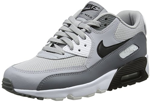 Nike Air Max 90 Mesh (GS), Scarpe Running Bambino, Multicolore (Wolf Black/Cool Grey/White 024), 36 EU
