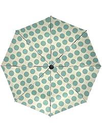 BENNIGIRY Sombrilla con lunares UV anticaída ligera, elegante reverso de 3 pliegues, resistente, paraguas especial…
