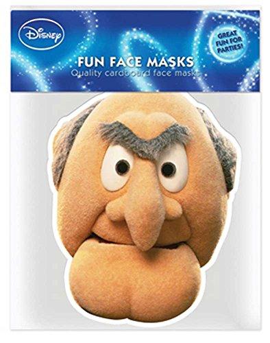 Und Statler Kostüm Waldorf - empireposter Muppets Statler - Papp Maske, aus hochwertigem Glanzkarton mit Augenlöchern, Gummiband - Grösse ca. 30x20 cm
