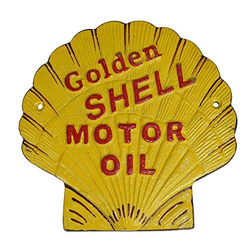 AB Tools Shell geformte Schale Öl Zeichen Kraftstoff Schild Plakette an der Wand