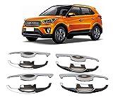 #3: Auto Repute Preimum Quality Chrome Handle Bowl Insert Trim Cover for - Hyundai Creta