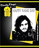 Funny Rude Cheeky Chops Cards – Birthday Game of Thrones Jon Snow nome day- C163