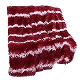 LCLrute 130 X 160cm / Bett-Sofa-Decke langes shaggy gemütliches flaumiges Kunstpelz-Blatt super weicher warmer Wurf (Rot)