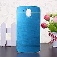 HTC Desire 526G caso, Wkae® HTC 526G caso, Lujo cepillado del metal del acero Volver pl¨¢stico cubierta del estuche r¨ªgido para HTC Desire 526G by Diebell(Blue)