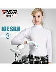 PGM Polo manches longues pour femme: Meryl, une grande élasticité, protection UV