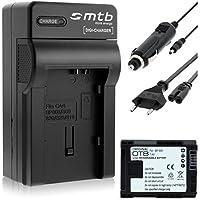 Batería + Cargador (Coche/Corriente) para Canon BP-808 / Legria HF G10, G25, M31, Vixia... ver lista!