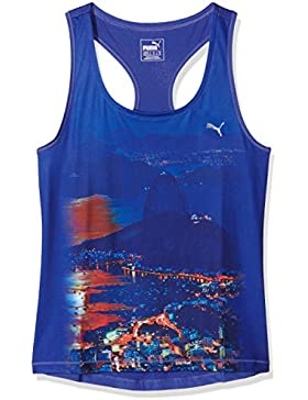 Puma Top Essential Graphic Layer Tank Azul XL