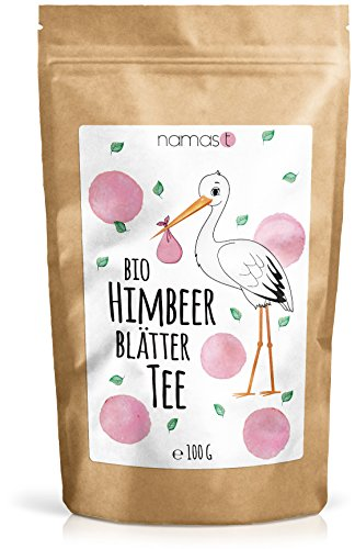 Himbeerblättertee BIO 100g - naturbelassen - 100% biologische Premium Qualität - Genuss von Himbeerblätter Tee in der Schwangerschaft mit der Hebamme abklären - abgefüllt & kontrolliert in Deutschland