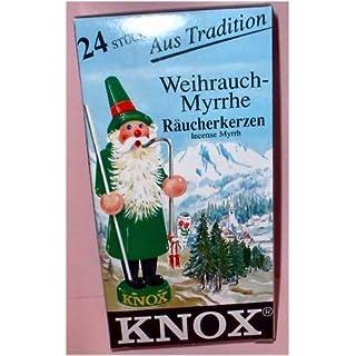 24 Stk. KNOX Räucherkerzchen Weihrauch-Myrrhe, für gute Stimmung und gegen lästige Insekten mit angenehmen Duft, Weihrauch-Myrrhe