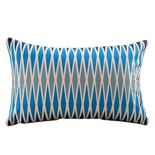 monrose Rechteckige Geometrische Print Kissenbezug Coffee Shop Dekoration -